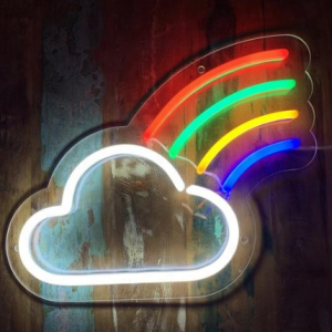 'Rainbow Cloud' Neon Sign