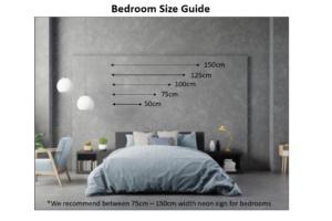 Bedroom Neon Size Guide