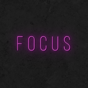 Focus neon sign