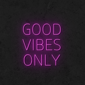 'Good Vibes Only V2' Neon Sign