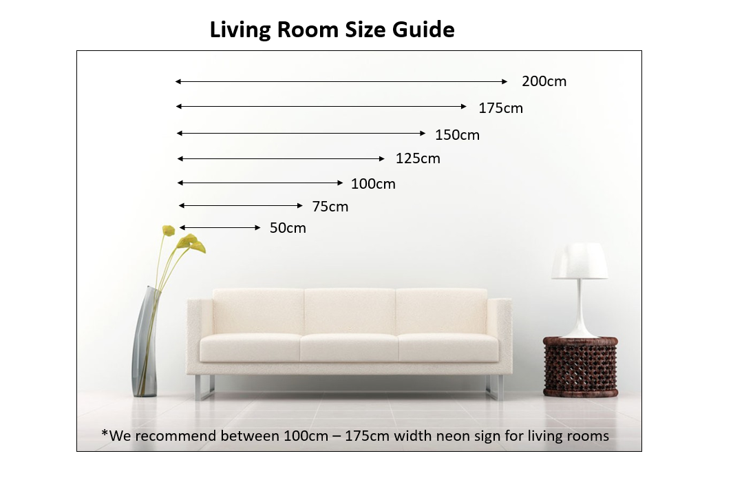 Living Room Neon Size Guide