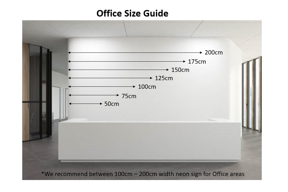Office Size - Neon Size Guide