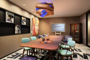 colourful office 300x200 - 5 Office Décor Trends of 2020 to Improve Productivity and Employee Welfare