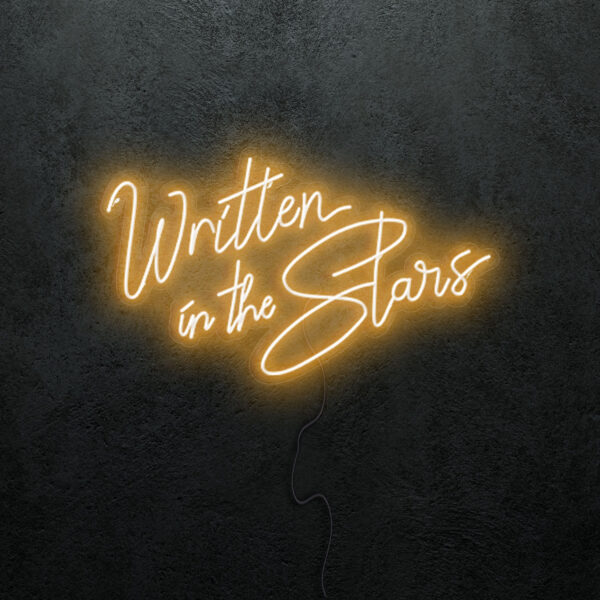 'Written in the Stars' Neon Sign