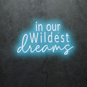 'In our Wildest Dreams' Neon Sign